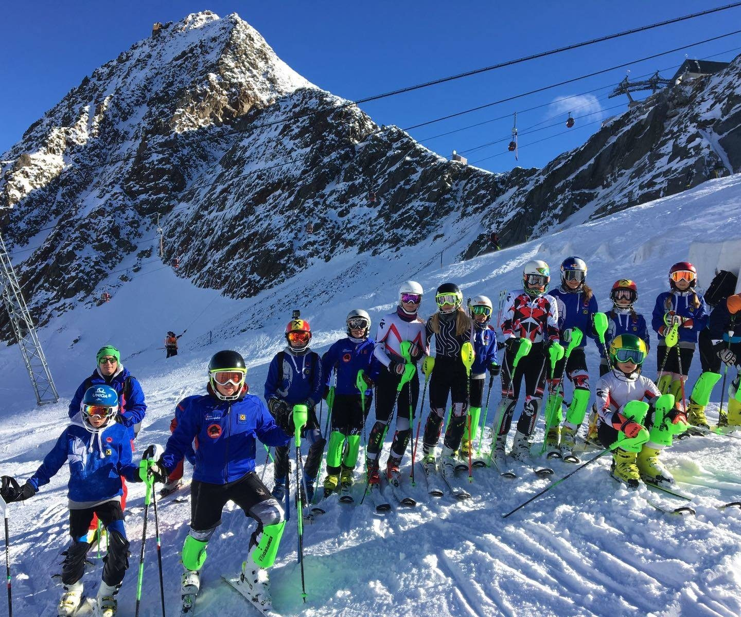 Trainingskurs am Stubaier Gletscher