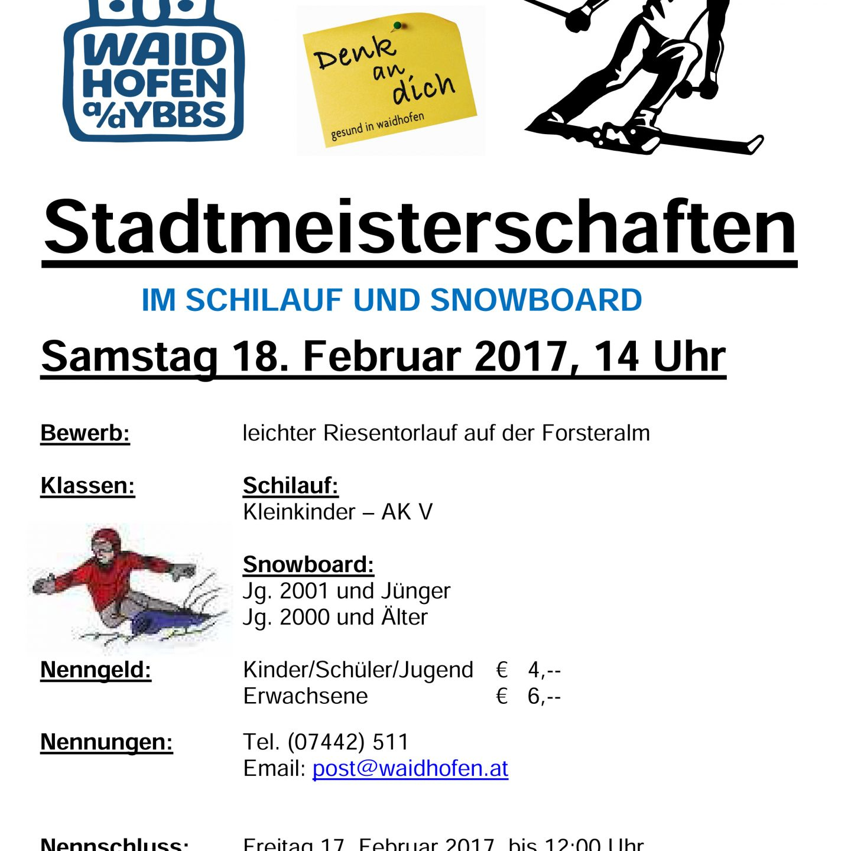 Stadtmeisterschaften 2017