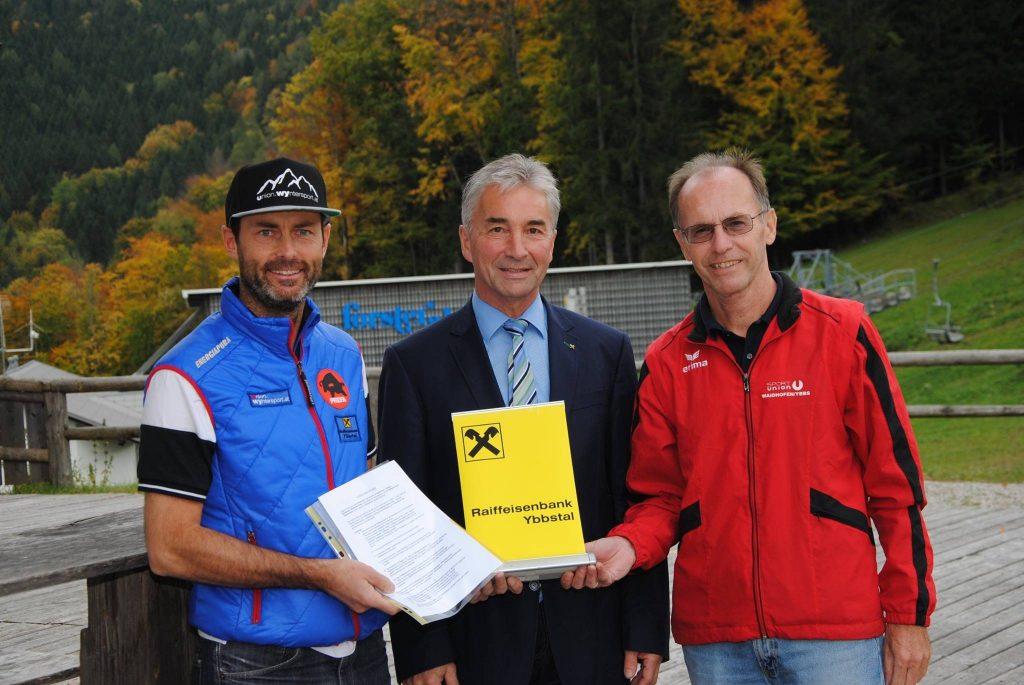 Raiffeisenbank Ybbstal verlängert Sponsorvertrag mit Union Wyntersport