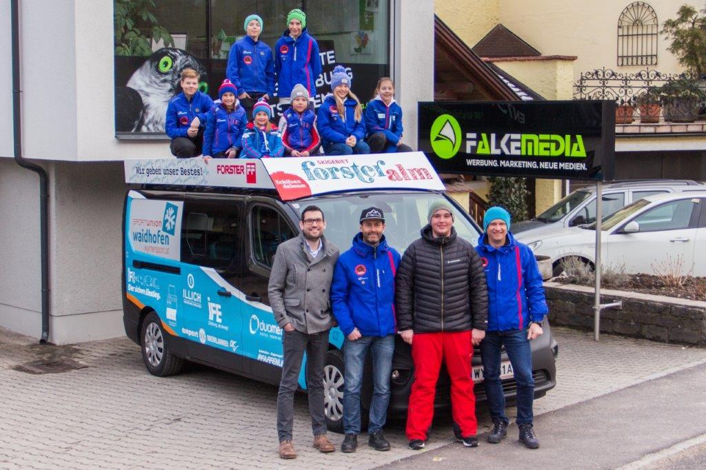 Regionale Sponsoren unterstützen Waidhofner Nachwuchskiathleten