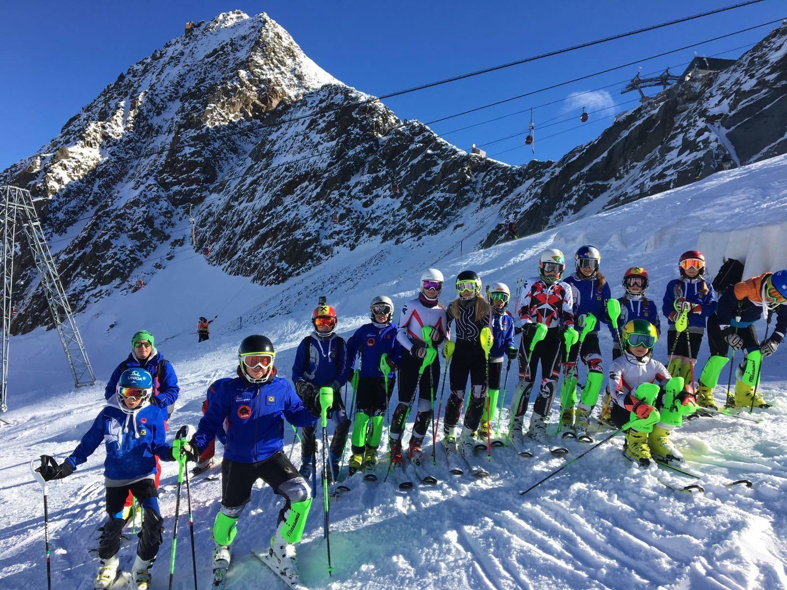 Trainingskurs am Stubaier Gletscher